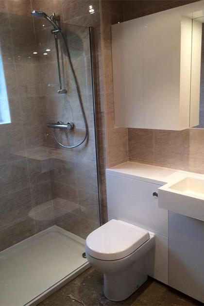 Shower room fitted in Bedford