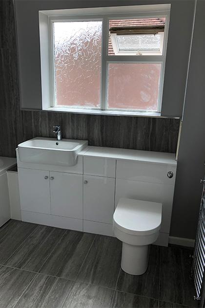 Bathroom fitted in Bedford