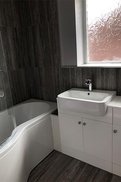 Bathroom refurbished in Bedford